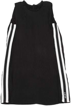 DKNY Plisse Dress W/ Logo Side Bands