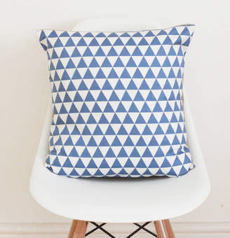 QuirkyBee Geometric Blue Cushion Cover