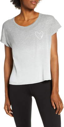 good hYOUman Claire Love In Heart Graphic Tee