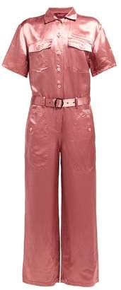 Neve Sies Marjan Washed Satin Jumpsuit - Womens - Pink