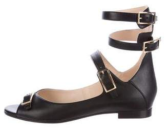 Chloé Buckle-Accented Leather Flats