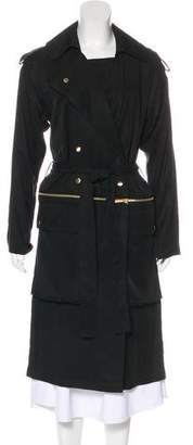 Thomas Wylde Long Double-Breasted Trench Coat