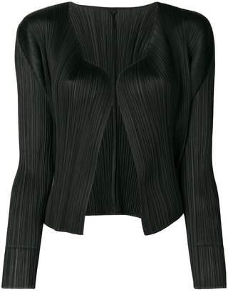 Pleats Please Issey Miyake open-front cardigan