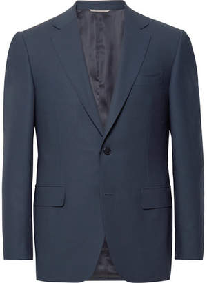 Canali Navy Slim-Fit Travel Water-Resistant Wool Blazer