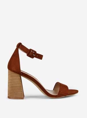 36c20388e2c Dorothy Perkins Womens Tan Flared Heeled Sandals