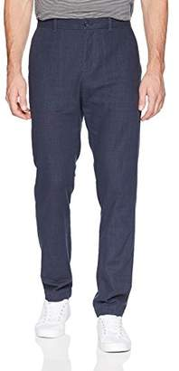 Perry Ellis Men's Slim Fit Crosshatch Cotton Pant