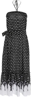 Miguelina Emery Polka-Dot Cotton Halter Dress