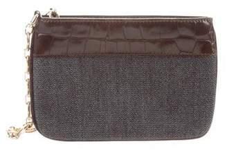 Celine Leather-Trimmed Handle Bag