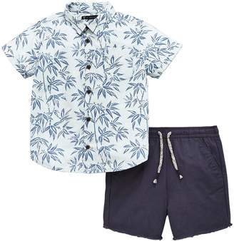 Mini V by Very Hawiian Shirt And Short Set