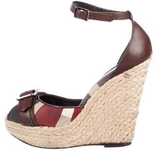 Burberry House Check Platform Wedges