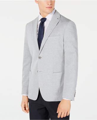 Calvin Klein Men Slim-Fit Stretch Gray Stripe Knit Sport Coat