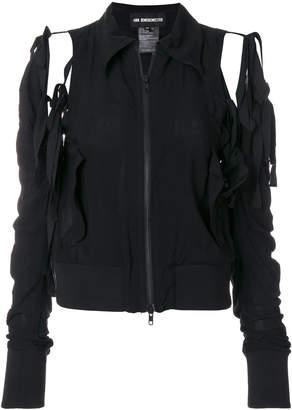 Ann Demeulemeester distressed zipped jacket