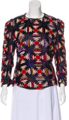 Isabel Marant Patterned Long Sleeve Top