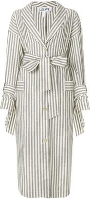 Loewe striped trench coat