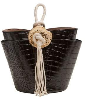 MANGO Croc-effect bucket bag
