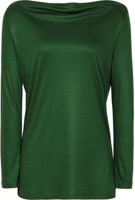 Reiss Marilyn - Straight Neck Top in Emerald Green