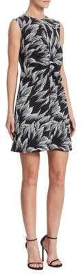 Victoria Beckham Victoria, Tuck-Front Printed Shift Dress