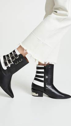 46e962e9eaf86 Black Decorative Buckle Boots For Women - ShopStyle UK