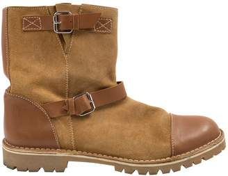 Pollini Camel Suede Ankle boots