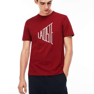 Lacoste Men's Crew Neck Lettering Cotton T-Shirt