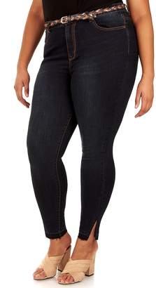 Juniors' Plus Size Wallflower Irresistible Skinny Jeans