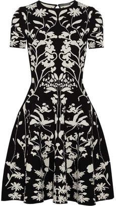 Alexander McQueen Intarsia Stretch-knit Dress - Black