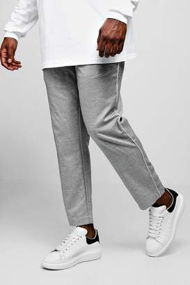 boohoo Big & Tall Woven Cropped Jogger With Side Piping