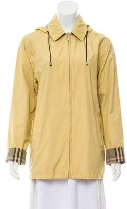 Burberry Lightweight Zip-Up Coat