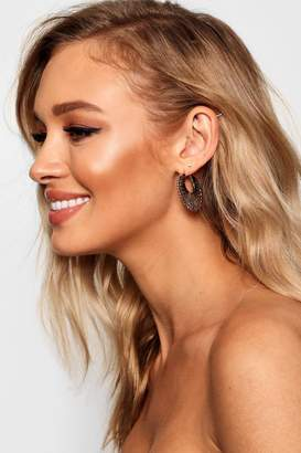 boohoo Kerry Boho Hoop Earrings