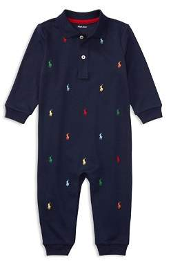 Ralph Lauren Boys' Signature Embroidery Coverall - Baby