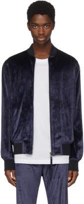 Versace Navy Chenille Track Jacket