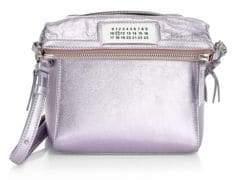 Maison Margiela Small Metallic Leather Crossbody Bag