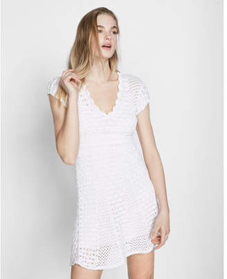 Express Crochet Fit And Flare Dress $69.90 thestylecure.com