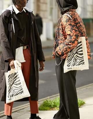 aea37b15a BEIGE Asos Design ASOS DESIGN tote bag in with zebra box print