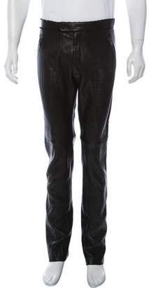 Baja East Four-Pocket Leather Pants