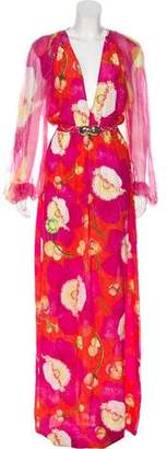 Isolda Printed Silk Maxi Dress