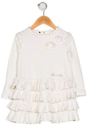 I Pinco Pallino Girls' Knit Ruffle Dress
