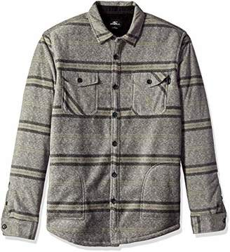 O'Neill Men's Glacier Stretch Button Up Superfleece Sherpa Lined Jacket