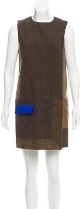 Rag & Bone Leather & Wool Mini Dress