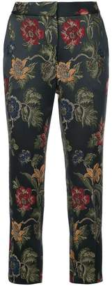 Rosetta Getty floral embroidered tailored trousers