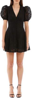 Rotate by Birger Christensen Black Lace Dress
