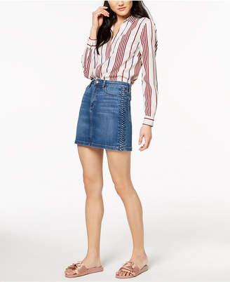 Joe's Jeans The Bella Braided-Detail Denim Skirt