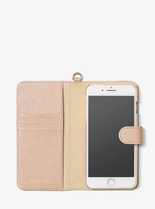 MICHAEL Michael Kors Saffiano Leather Folio Phone Case For iPhone7/8 Plus