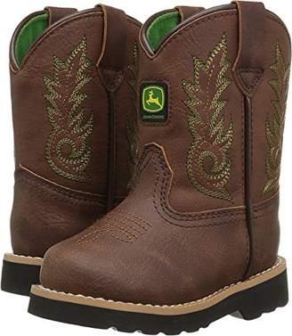 John Deere Kids' Inf Drk Chestnut PO Pull-On Boot