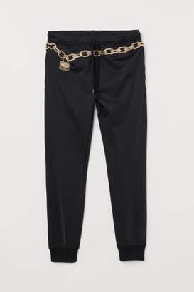 H&M Joggers with Applique - Black