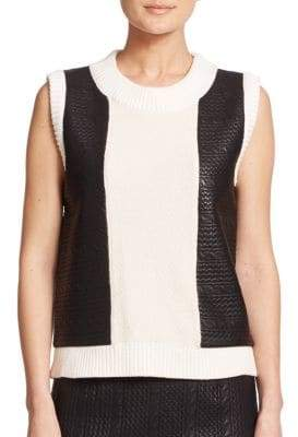 Raoul Knit Cable-Panel Tank