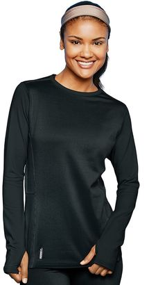 Women's Champion Brushed-Back Crewneck Base Layer Top $34.99 thestylecure.com