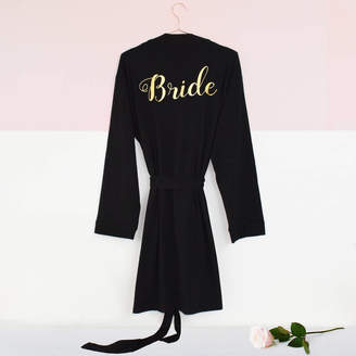 Weasel and Stoat Personalised 'Bridal Party' Wedding Dressing Gown