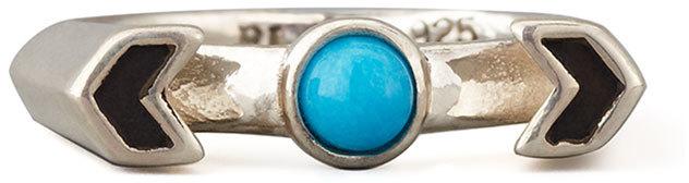 Pamela Love Silver Chevron Reveal Ring, Turquoise