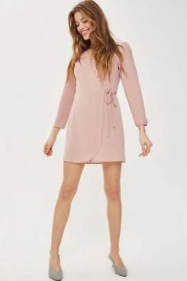 Topshop Crepe Mini Wrap Dress
